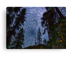 Polaris Star Trails Over Big Forest in King's Canyon Canvas Print