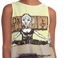 Flying Goat Pose Contrast Tank