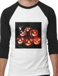 Happy Halloween! A jack-o-lantern quintet Men's Baseball ¾ T-Shirt