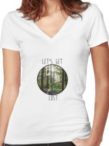 Lets Get Lost Women's Fitted V-Neck T-Shirt