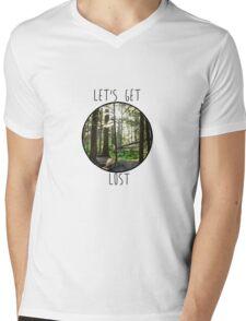 Lets Get Lost Mens V-Neck T-Shirt
