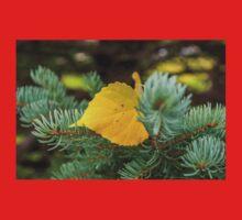 Autumn Poplar Leaf One Piece - Short Sleeve