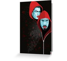 Red riding hoodies Greeting Card