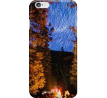 Star Trails Over Camp Forest in King's Canyon iPhone Case/Skin