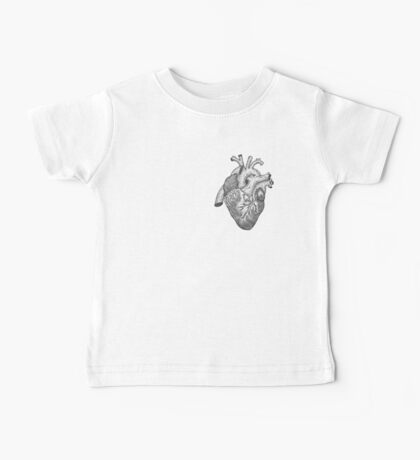 Anatomical Heart Ink Illustration Baby Tee