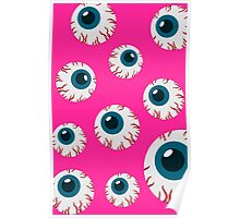 Halloween Eye Pattern Poster
