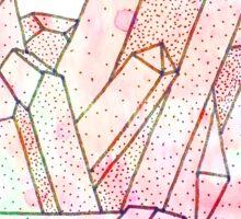 Technicolour Crystal Galaxy Graphic Illustration Sticker