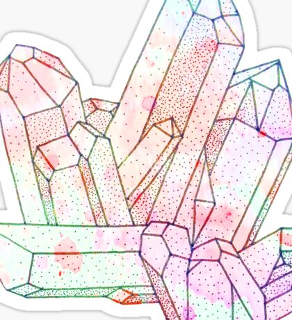 Technicolour Crystal Galaxy Graphic Illustration Sticker