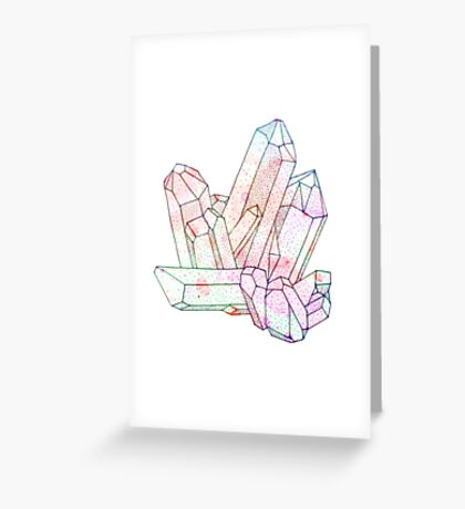 Technicolour Crystal Galaxy Graphic Illustration Greeting Card