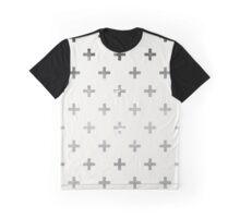 Swiss Cross Grey Grunge Graphic T-Shirt