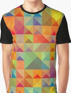Colorful Triangles Pattern Graphic T-Shirt