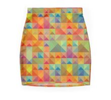 Colorful Triangles Pattern Mini Skirt