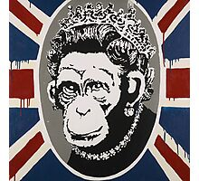 Banksy - Monkey Queen Photographic Print