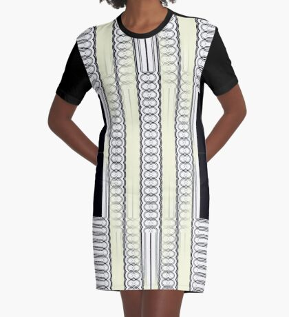 Circle It In Lines and Blocks Graphic T-Shirt Dress