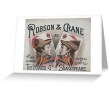 Performing Arts Posters Robson Crane as the knaves of Shakespeare 0678 Greeting Card