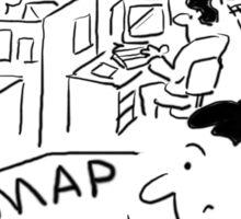 Open Plan Office - Man needs a Map Sticker
