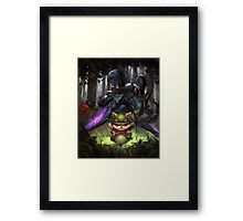 league of legends-teemo hunting Framed Print