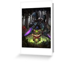 league of legends-teemo hunting Greeting Card