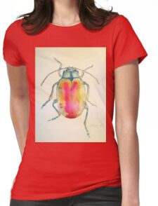 Chrysolina Fatsuo by Liz H Lovell Womens Fitted T-Shirt