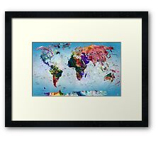 map Framed Print