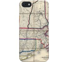 0053 Railroad Maps Railroad map of New England eastern New York complied from the most authentic iPhone Case/Skin
