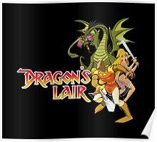 Dragons Lair - White Outline Poster