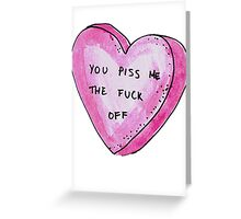 Pissed Greeting Card