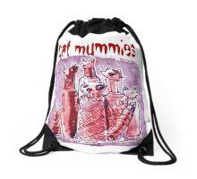 cat mummies Drawstring Bag