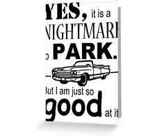 Cadillac Parking Greeting Card