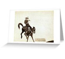 Bucking Bronco - John Grabill - 1888 Greeting Card