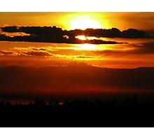 Chico, CA Sunset Photographic Print