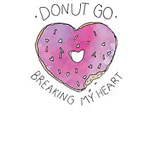 Donut Break My Heart Photographic Print