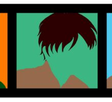 Minimalist Shiganshina Trio Sticker