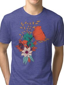 Botanical pattern 010 Tri-blend T-Shirt