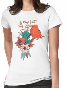 Botanical pattern 010 Womens Fitted T-Shirt