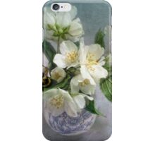 Mock Orange Blossoms Bouquet with Bumble Bee iPhone Case/Skin