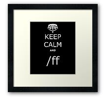 League KCA /ff Framed Print