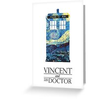 """Vincent and the Doctor"" Greeting Card"