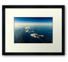 Earth Islands And Mediterranean Sea At 10.000m Altitude Above Ground Framed Print
