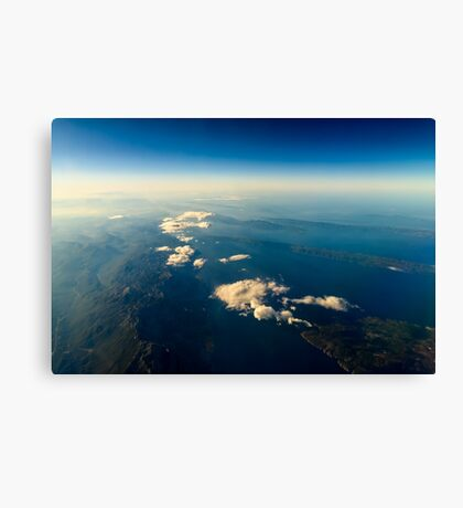 Earth Islands And Mediterranean Sea At 10.000m Altitude Above Ground Canvas Print