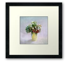 Hydrangea Blooms in Late Summer Framed Print