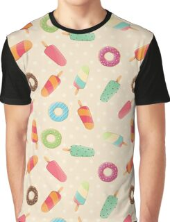 Ice cream and donuts 001 Graphic T-Shirt