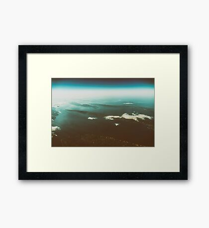 Earth Islands And Mediterranean Sea At 10.000m Altitude Framed Print
