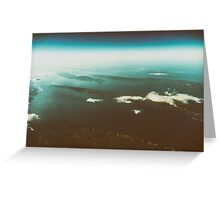 Earth Islands And Mediterranean Sea At 10.000m Altitude Greeting Card