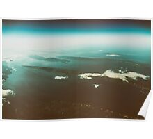 Earth Islands And Mediterranean Sea At 10.000m Altitude Poster
