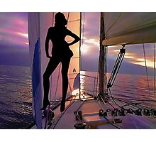 ☝ ☞ SAILING WITH A VIEW FANTASY VACATION -  PICTURE/CARD ☝ ☞ Photographic Print