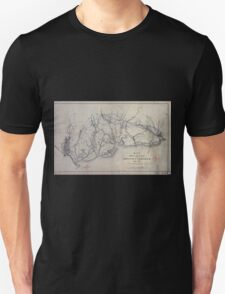 0224 Railroad Maps Map showing the location of the Charleston Savannah R R May Unisex T-Shirt