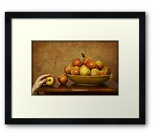 a thief lurks Framed Print