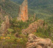 Rocky volcanic landscape Sticker
