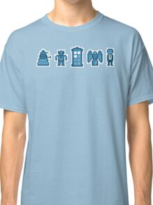 Time and Space Invaders Classic T-Shirt